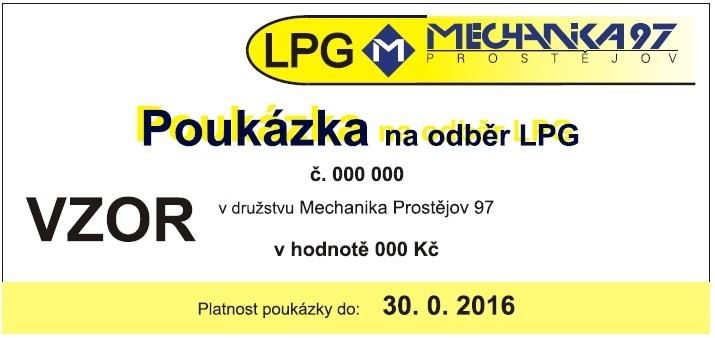 Platební poukázka za LPG